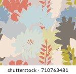 modern floral seamless pattern. ... | Shutterstock .eps vector #710763481