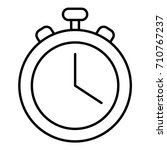 stopwatch icon. outline... | Shutterstock .eps vector #710767237