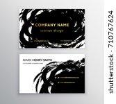 vector business card. luxury... | Shutterstock .eps vector #710767624