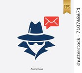 anonymous and email icon vector ...