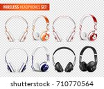 set of realistic wireless... | Shutterstock .eps vector #710770564