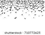halloween flying bats.... | Shutterstock .eps vector #710772625