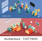 nursing home long term care... | Shutterstock .eps vector #710773051