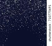 snow fall blue christmas... | Shutterstock .eps vector #710775691