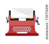 typewriter machine icon | Shutterstock .eps vector #710776339