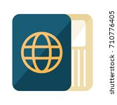 passport and ticket icon | Shutterstock .eps vector #710776405