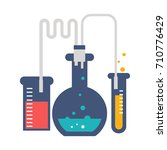 laboratory tubes icon | Shutterstock .eps vector #710776429