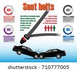seat belt statistics.... | Shutterstock .eps vector #710777005