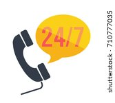 24 7 customer service icon | Shutterstock .eps vector #710777035