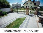 perspective view of monotone... | Shutterstock . vector #710777689