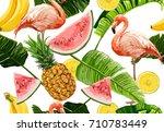 seamless vector tropical ...   Shutterstock .eps vector #710783449