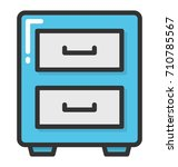 drawers vector icon | Shutterstock .eps vector #710785567