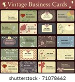 vintage business cards... | Shutterstock .eps vector #71078662