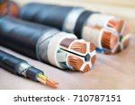 cross section of high voltage... | Shutterstock . vector #710787151