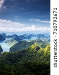scenic view over ha long bay... | Shutterstock . vector #710792671