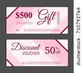 gift voucher template. can be...   Shutterstock .eps vector #710792764