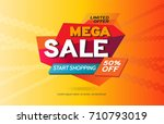 sale banner template design.... | Shutterstock .eps vector #710793019