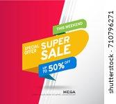 sale banner template design.... | Shutterstock .eps vector #710796271