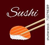 sushi  icon  vector illustration | Shutterstock .eps vector #710798389