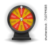 spinning wheel of fortune.... | Shutterstock . vector #710799085