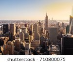 new york city skyline with... | Shutterstock . vector #710800075