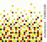 pixel art background. mosaic... | Shutterstock .eps vector #710801185