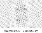 black and white dotted halftone ... | Shutterstock .eps vector #710805319