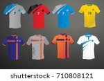 set soccer kit or football... | Shutterstock .eps vector #710808121