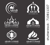 white arab cuisine and food... | Shutterstock .eps vector #710811337