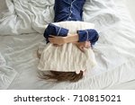 too lazy to get out of bed  a... | Shutterstock . vector #710815021