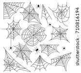 Spider Web. Scary Halloween...