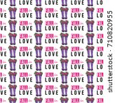 vector fall in love text ... | Shutterstock .eps vector #710820955