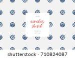 hand drawn circles  geometric... | Shutterstock .eps vector #710824087