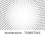 black and white dotted halftone ... | Shutterstock .eps vector #710827261