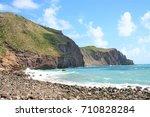 cobble beach  island of...   Shutterstock . vector #710828284