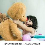 Baby So Happy With Big Teddy...