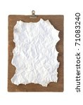 paper from a fire on wood | Shutterstock . vector #71083240