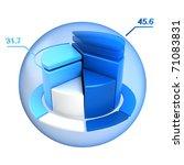 blue pie chart | Shutterstock . vector #71083831