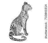 cat. design zentangle. hand... | Shutterstock .eps vector #710843314