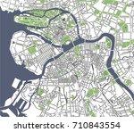 vector map saint petersburg ... | Shutterstock .eps vector #710843554