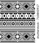 seamless ethnic pattern... | Shutterstock .eps vector #710843917