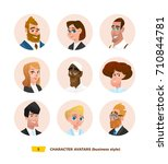 characters avatars in cartoon... | Shutterstock .eps vector #710844781