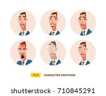 characters avatars emotion in... | Shutterstock .eps vector #710845291