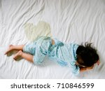 child pee on a mattress  little ... | Shutterstock . vector #710846599