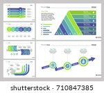 six logistics slide templates... | Shutterstock .eps vector #710847385