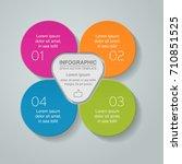 vector infographic template for ... | Shutterstock .eps vector #710851525
