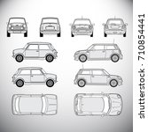 automobile.template for graphic ... | Shutterstock . vector #710854441