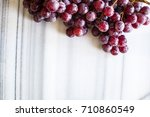 bunches of fresh ripe red... | Shutterstock . vector #710860549