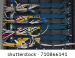the front of the utp lan cable... | Shutterstock . vector #710866141