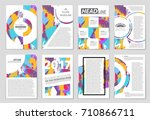 abstract vector layout... | Shutterstock .eps vector #710866711
